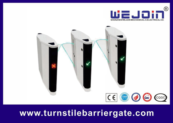चीन RFID Access Control High Speed ESD Turnstile Flap Barrier Gate फैक्टरी