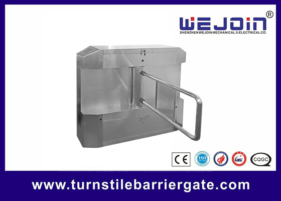 चीन Acrylic plate Arm Turnstile Entry Swing Barrier Gate Systems With Dry Contact Interface फैक्टरी